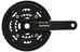 Shimano Alivio FC-T4010 Kurbelgarnitur 44/32/22 KSR schwarz